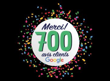 700 Avis client google